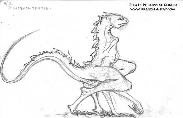 Swift Ridgeback dragon- now with more ridges!