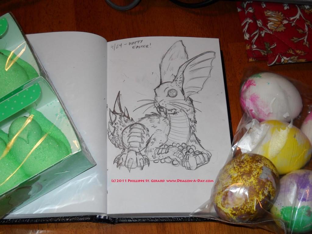 Easter Bunny Dragon hunts you.
