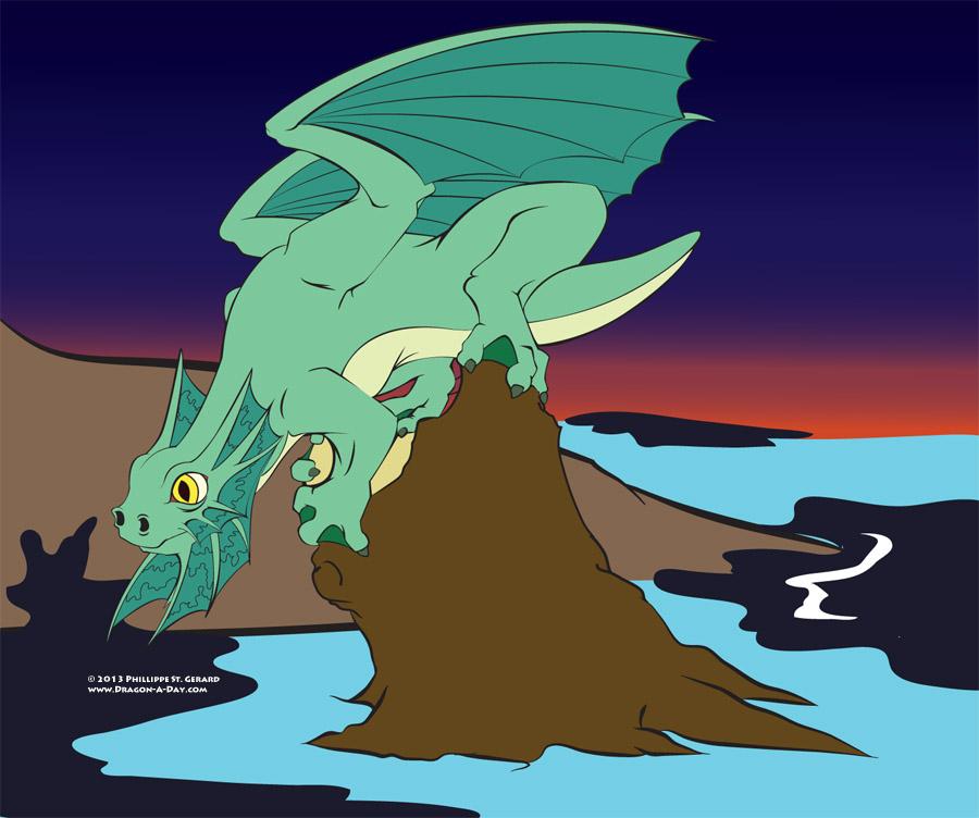 Frilled Marsh Dragon (WIP)